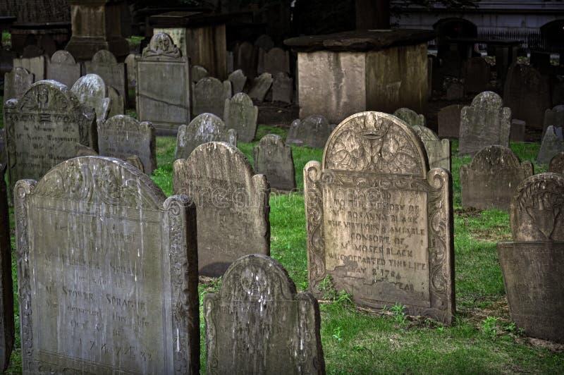 Argumentos de entierro de Chapel de rey, Boston, mA fotos de archivo libres de regalías