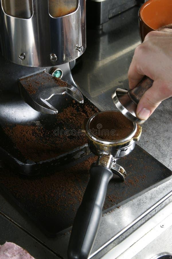 Argumentos del café express del apisonamiento fotografía de archivo libre de regalías