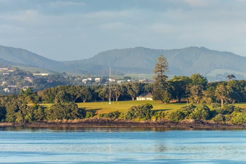 Argumentos del tratado de Waitangi en Paihia, tierra del norte, Nueva Zelanda imagenes de archivo