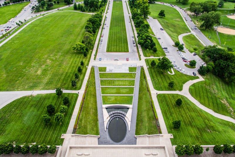 Argumentos en Liberty Memorial en Kansas City Missouri fotos de archivo libres de regalías