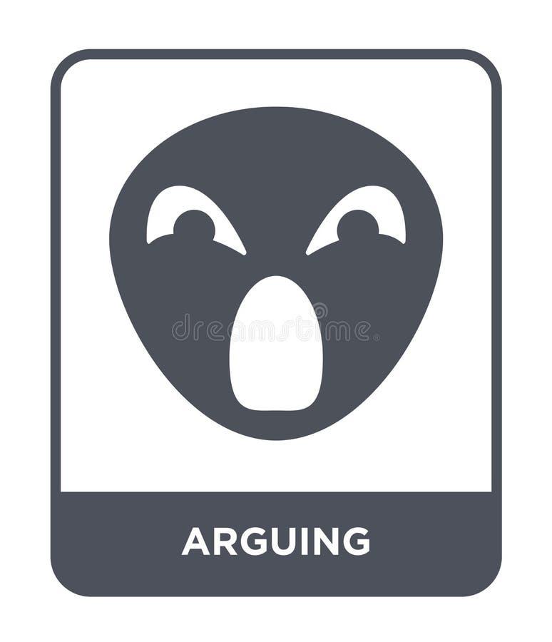 argumentowanie ikona w modnym projekta stylu argumentowanie ikona odizolowywająca na białym tle argumentowanie wektorowej ikony p ilustracji