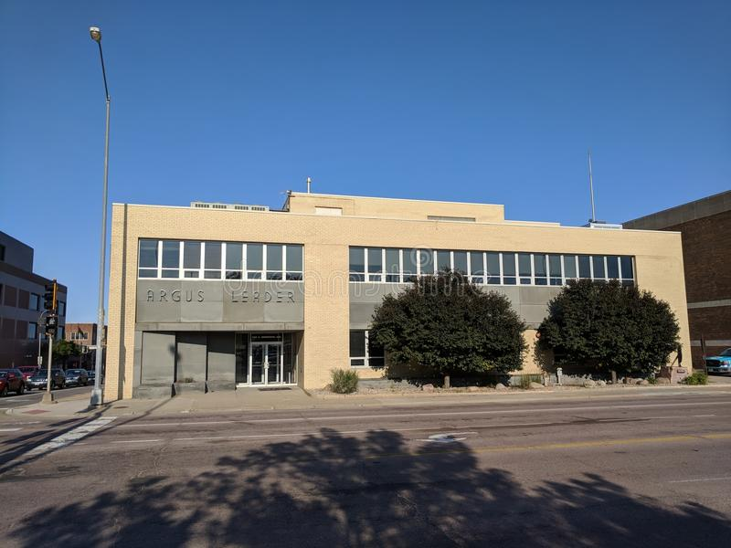 Argus Leader. The Argus Leader newspaper & media building in downtown Sioux Falls, South Dakota stock photography