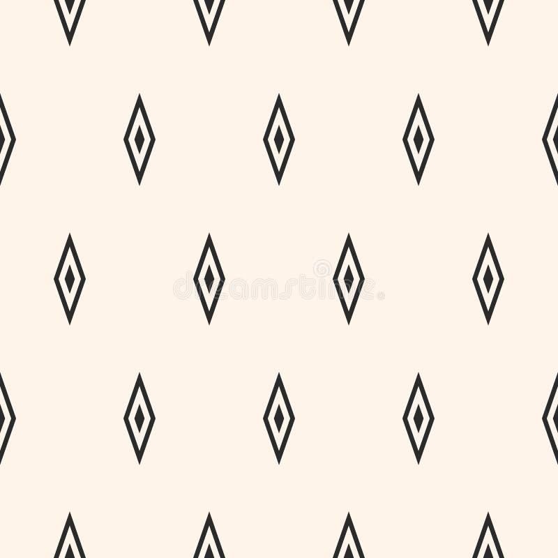 Argyle传染媒介无缝的样式,简单的菱形纹理 库存例证
