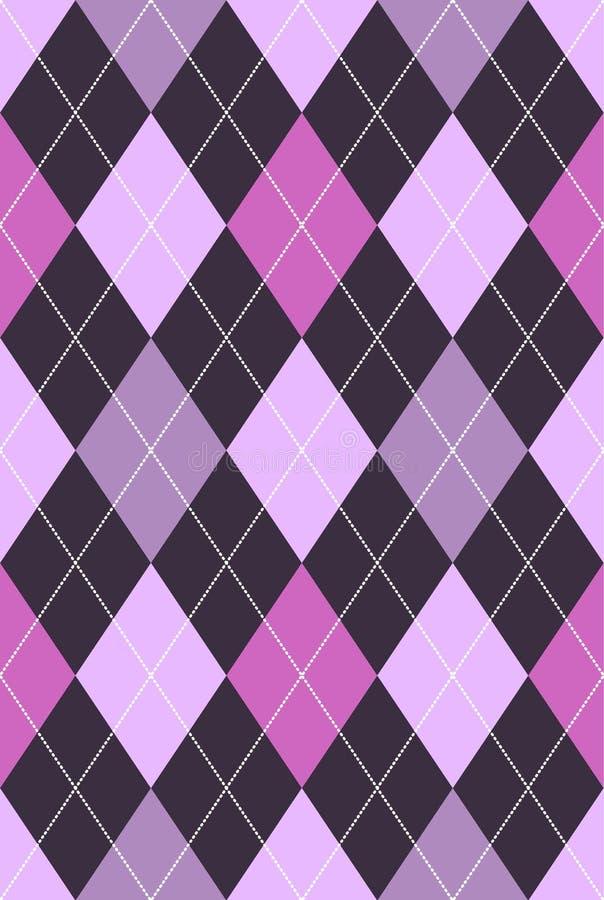 argyle模式粉红色紫色 皇族释放例证