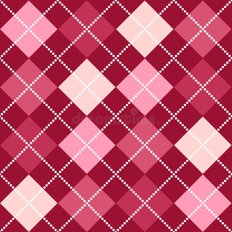argyle模式粉红色 向量例证