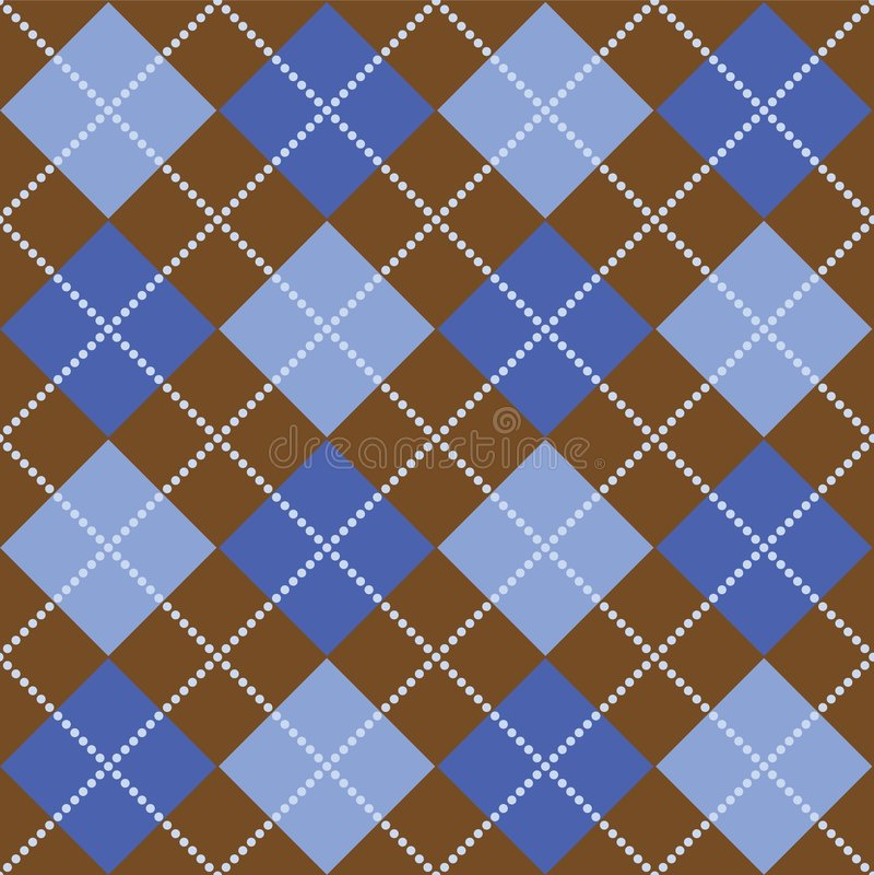 argyle蓝色褐色 向量例证