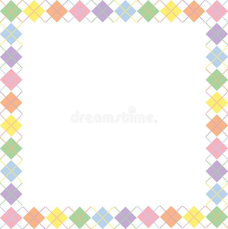 argyle边界柔和的淡色彩彩虹 皇族释放例证
