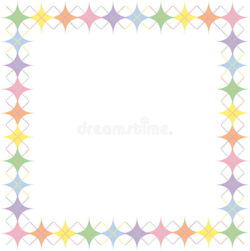 argyle边界淡色彩虹星形 皇族释放例证
