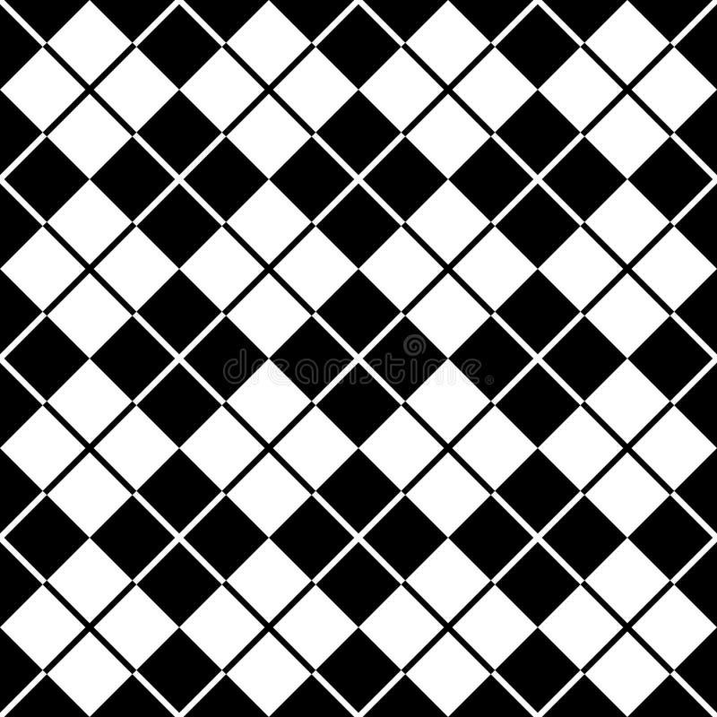 argyle黑色模式白色 库存例证