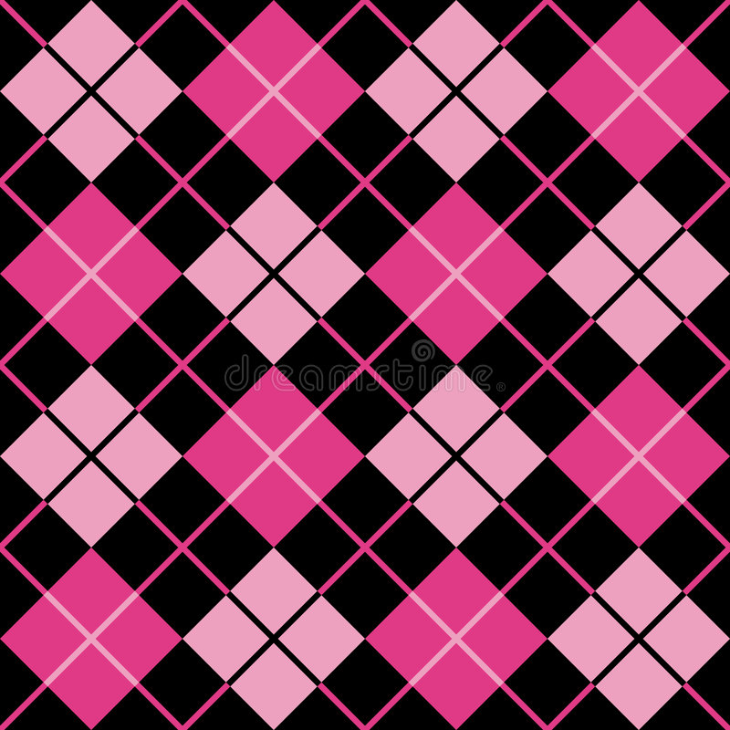 argyle μαύρο ροδανιλίνης ροζ πρ& ελεύθερη απεικόνιση δικαιώματος