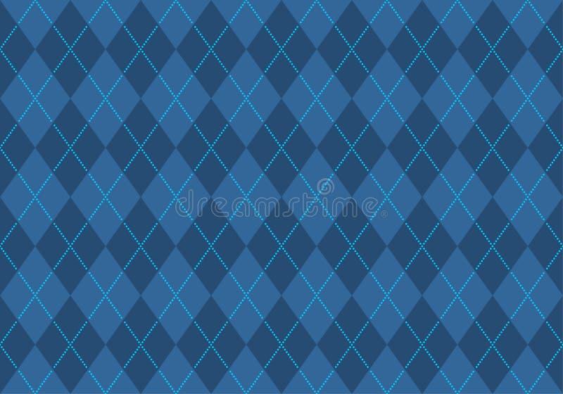 argyle μπλε ταπετσαρία διανυσματική απεικόνιση