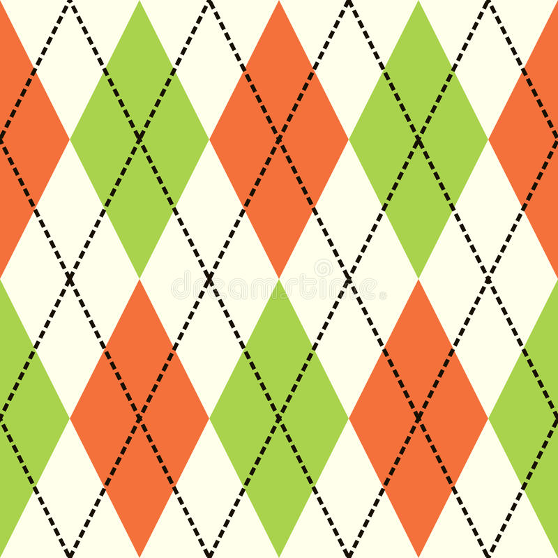 Argyle anaranjado y verde fotografía de archivo libre de regalías