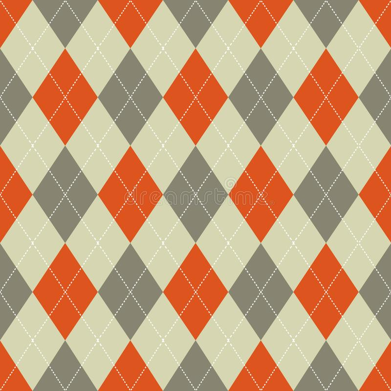 argyle bezszwowy deseniowy Retro pomarańcze i brązu kolory wektor ilustracji