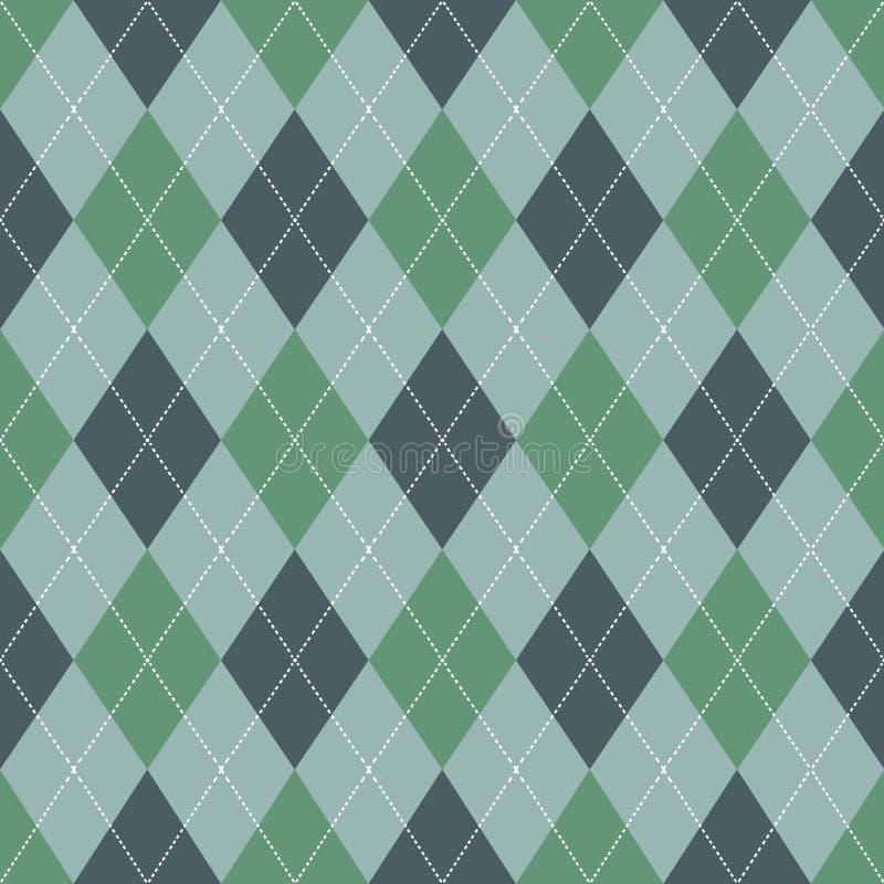argyle bezszwowy deseniowy Retro zielony kolor wektor ilustracja wektor