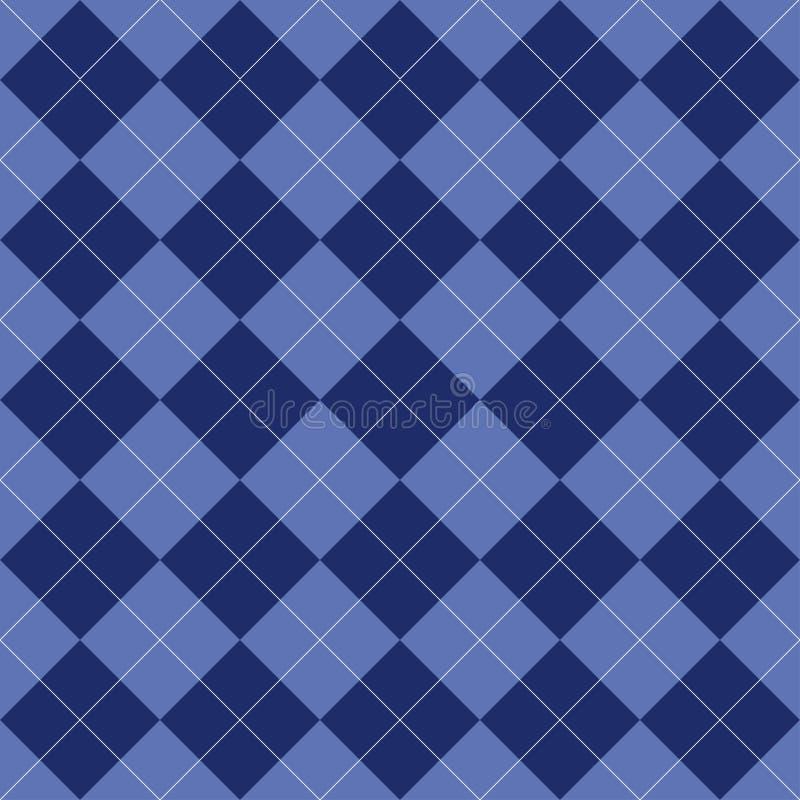 argyle bezszwowy deseniowy Rhombus błękitny kolor Tekstura dla szkockiej kraty, tablecloths, odziewa, koszula i inni tekstylni pr ilustracja wektor