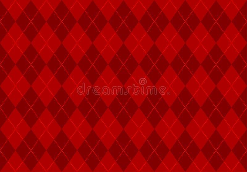 argyle czerwieni tapeta ilustracji