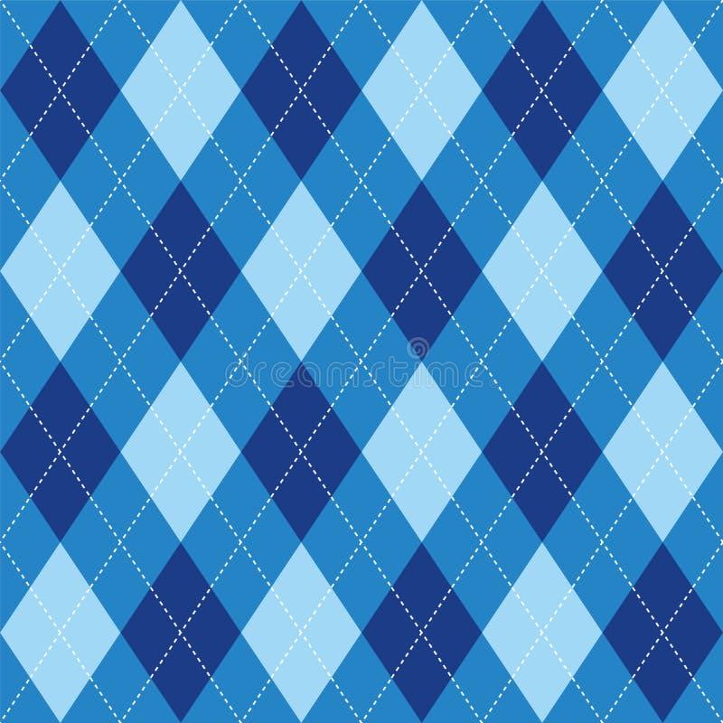 Argyle deseniowego błękitnego rhombus bezszwowa tekstura ilustracji