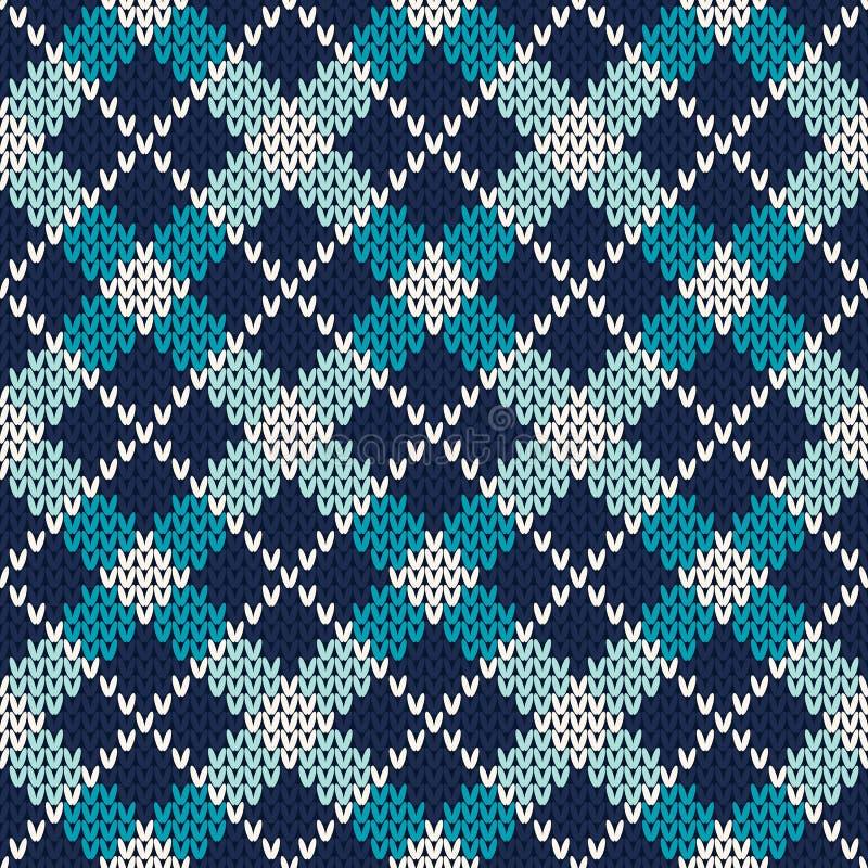 Argyle Knitted Pattern Naadloze vectorachtergrond stock illustratie