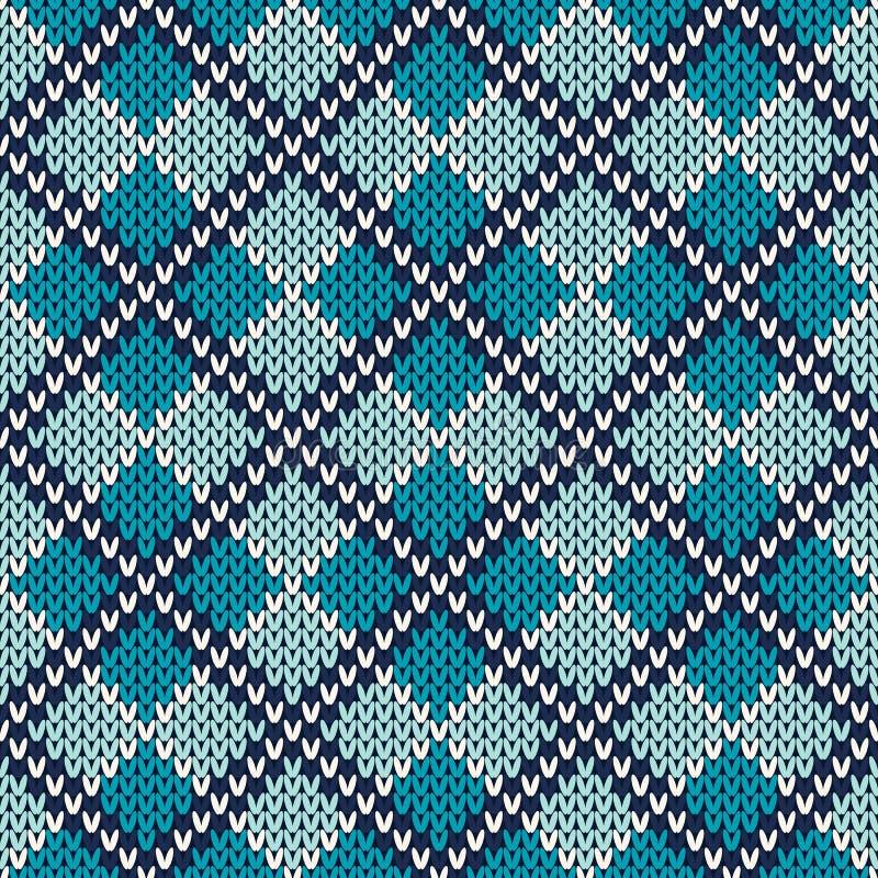 Argyle Knitted Pattern Naadloze vectorachtergrond vector illustratie