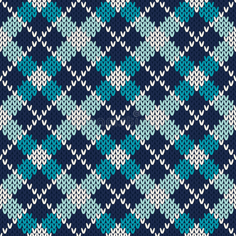 Argyle Knitted Pattern. Seamless Vector Background Stock ...
