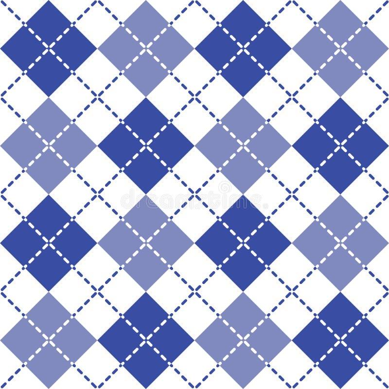 Argyle Pattern estrallado en azul y blanco libre illustration