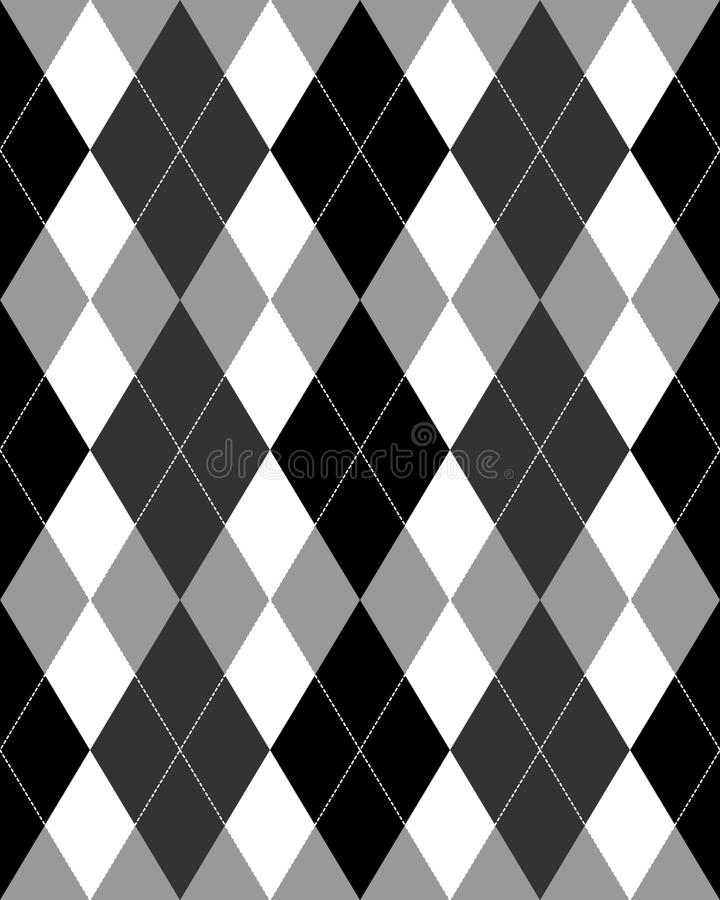 Argyle Pattern Grayscale EPS vector illustration