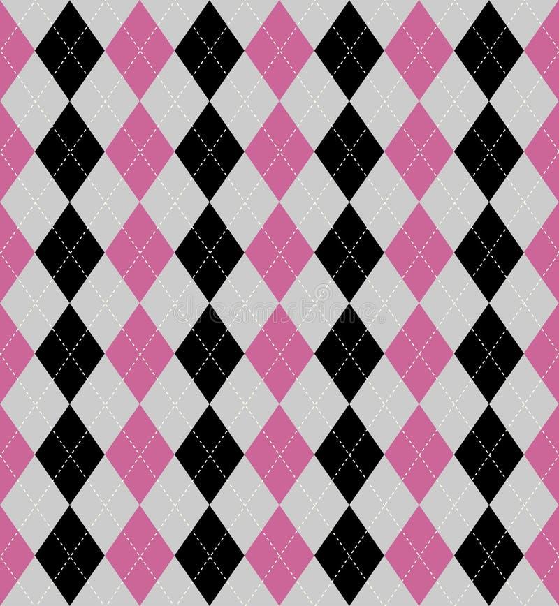 Argyle patterned background royalty free illustration