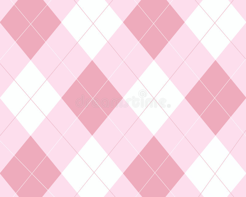 Argyle rose et blanc illustration de vecteur