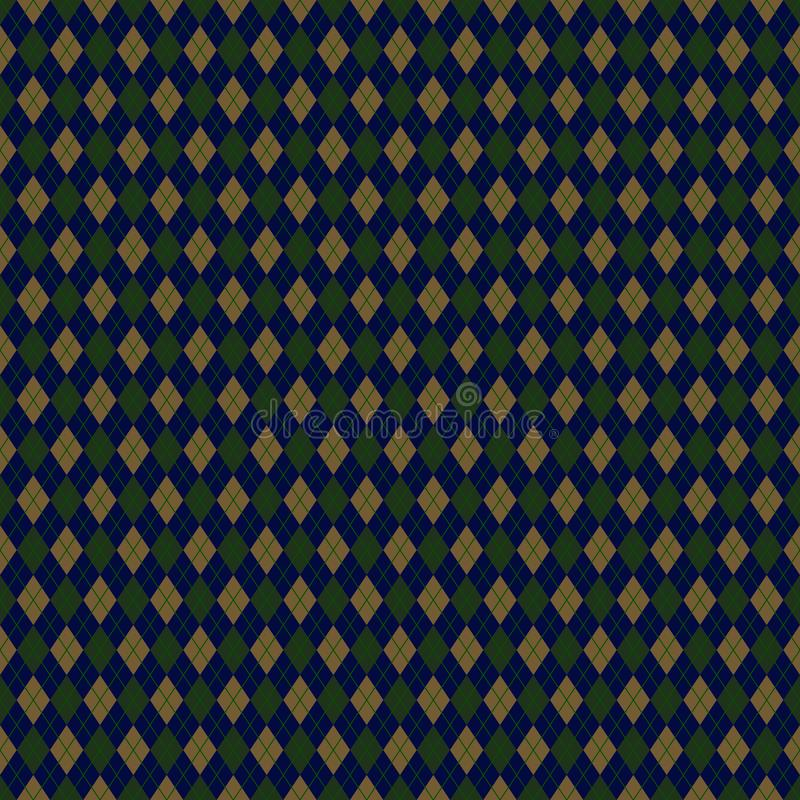 Argyle School Uniform Seamless Pattern vector illustratie