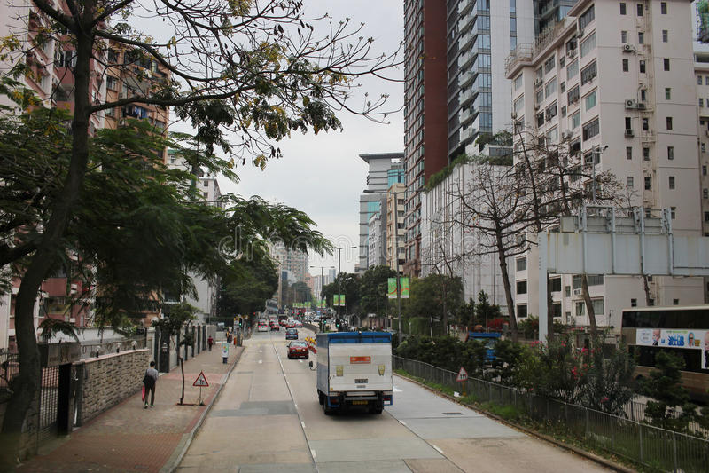 Argyle Street à la ville de Kowloon photographie stock libre de droits