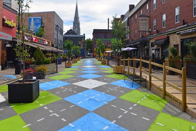 Argyle Street em Halifax foto de stock royalty free