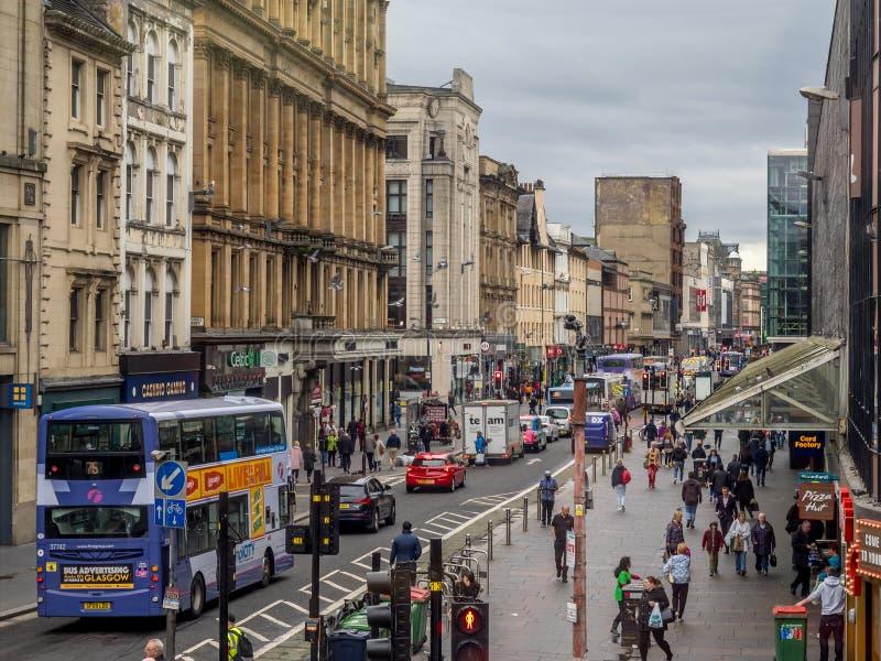 Argyle Street, Glasgow image libre de droits