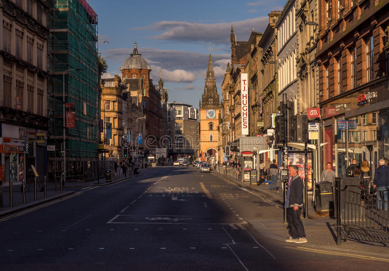 Argyle Street, Glasgow royalty free stock photo