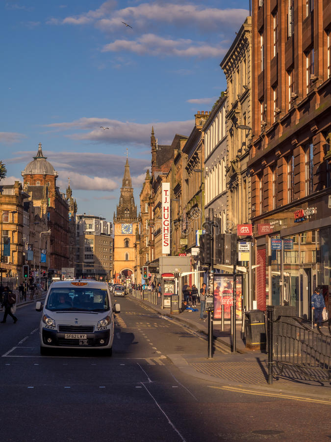 Argyle Street, Glasgow royalty free stock images