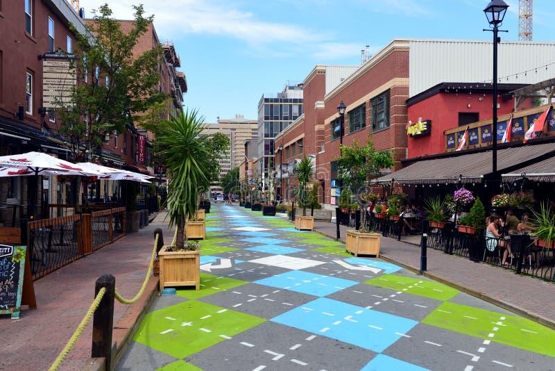 Argyle Street in Halifax royalty-vrije stock foto