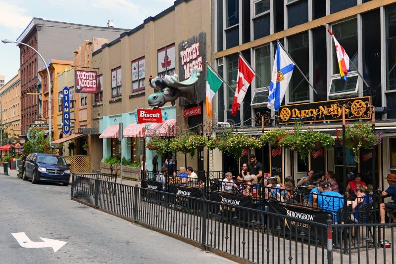 Argyle Street in Halifax stock afbeelding