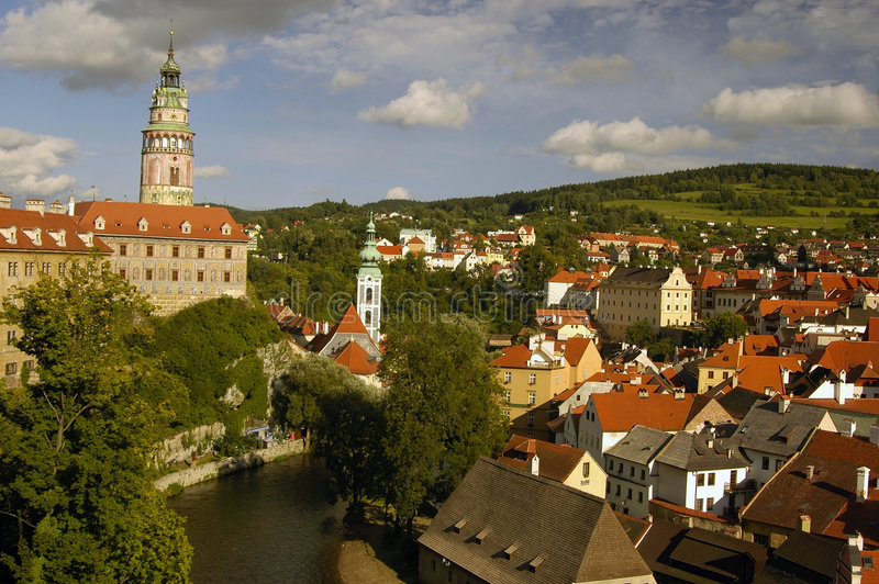 arhitekture czeskiego krumlov obraz royalty free
