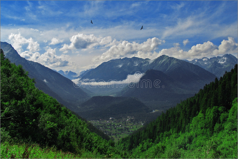 Arhyz. Mountains. stock photo