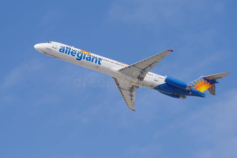 Aria Allegiant McDonnell Douglas MD-83 fotografia stock libera da diritti