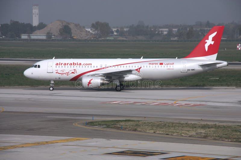 Aria Arabia - Airbus immagine stock libera da diritti