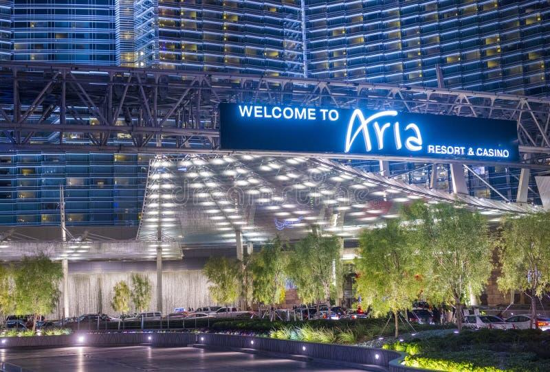 Aria de Las Vegas imagen de archivo