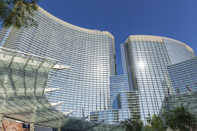 Aria Hotel, Casino in Las Vegas, NV op 18 Mei, 2013 stock afbeelding
