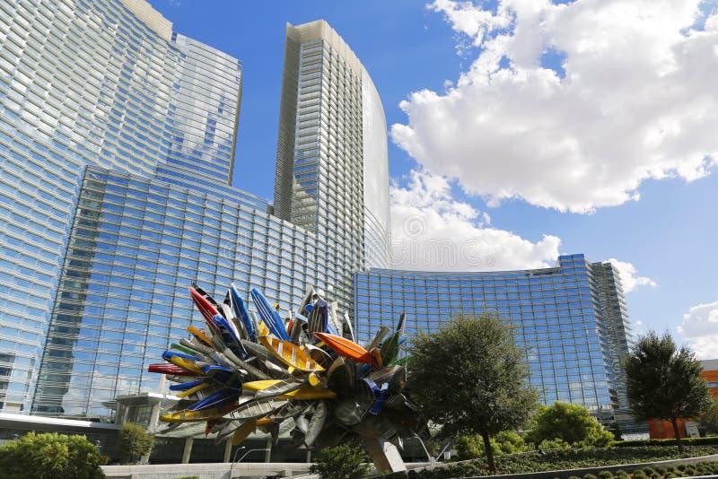 Aria Hotel en CityCenter, Las Vegas imagen de archivo