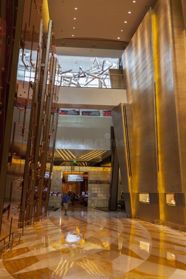 Aria Hotel interior en Las Vegas, nanovoltio el 6 de agosto de 2013 imagen de archivo libre de regalías