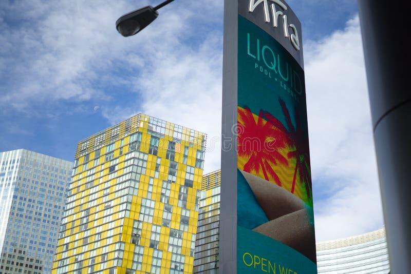 Aria Hotel Las Vegas foto de archivo libre de regalías