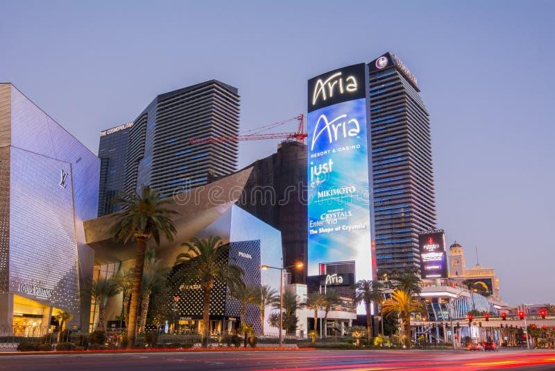 Aria Hotel, Las Vegas fotos de stock royalty free