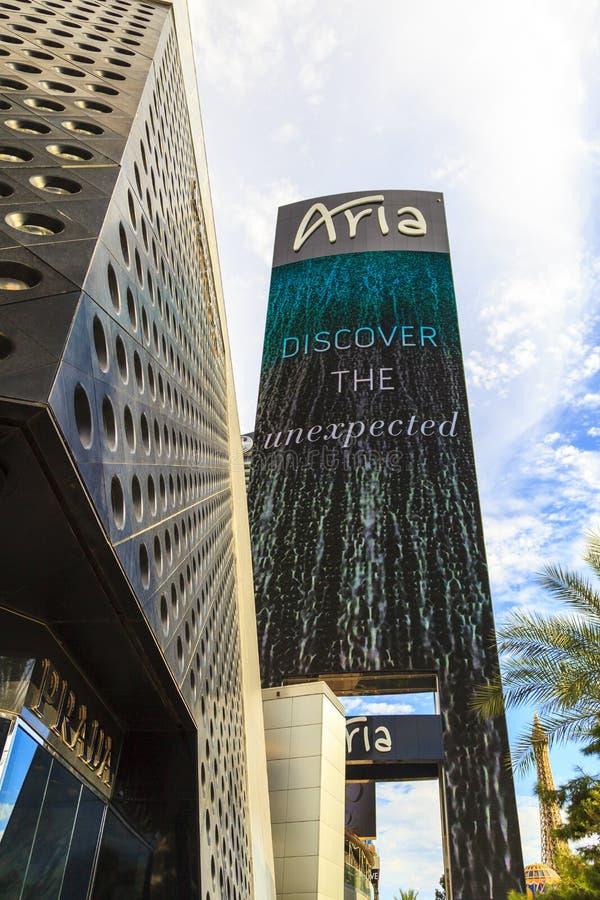 Aria Hotels op Stadscentrum in Las Vegas royalty-vrije stock afbeelding