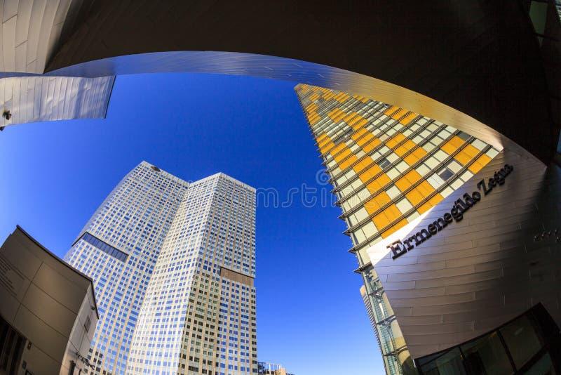 Aria Hotels op Stadscentrum in Las Vegas stock afbeeldingen
