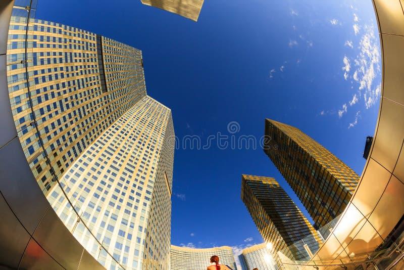 Aria Hotels på centret i Las Vegas fotografering för bildbyråer