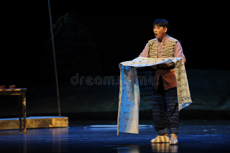 Aria- Jiangxi opera a steelyard. Jiangxi opera a steelyard is adapted from a true story: the last century fortys, the protagonists father runs an oil mill in the royalty free stock photo